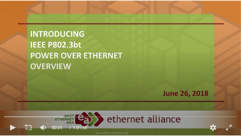Introducing 802.3bt™ Power over Ethernet (PoE)