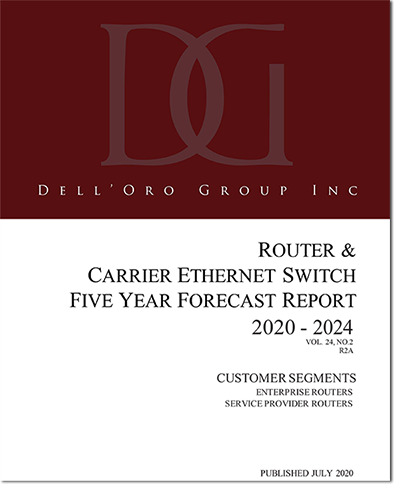 Dell'Oro Router and Carrier Ethernet Switch 5-Year Forecast Report Cover