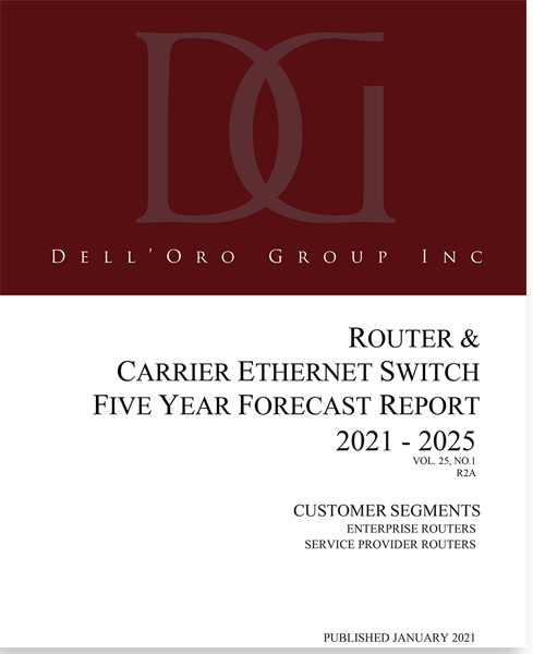 Dell'Oro Group Router and SDWAN 5-year forecast report