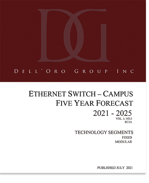 Dell'Oro Group Ethernet Switch Campus market 5-Year Forecast July 2021