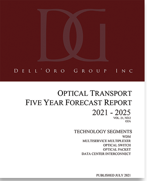 Dell'Oro Group Optical Transport 5-Year Forecast Report July 2021